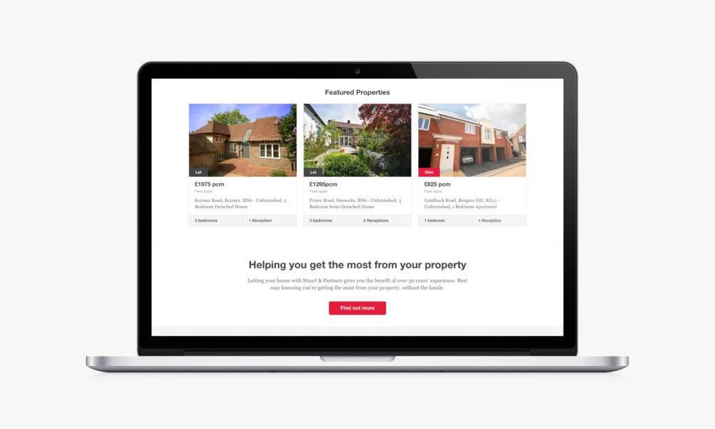 Stuart & Partners feature properties web page