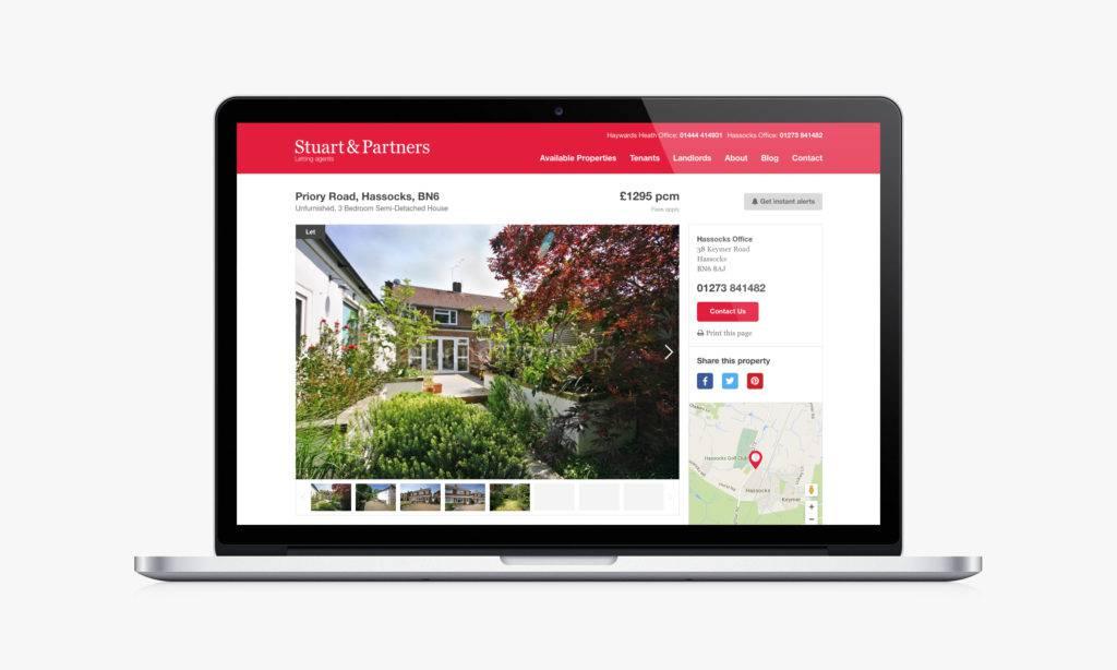 Stuart & Partners third website screenshot